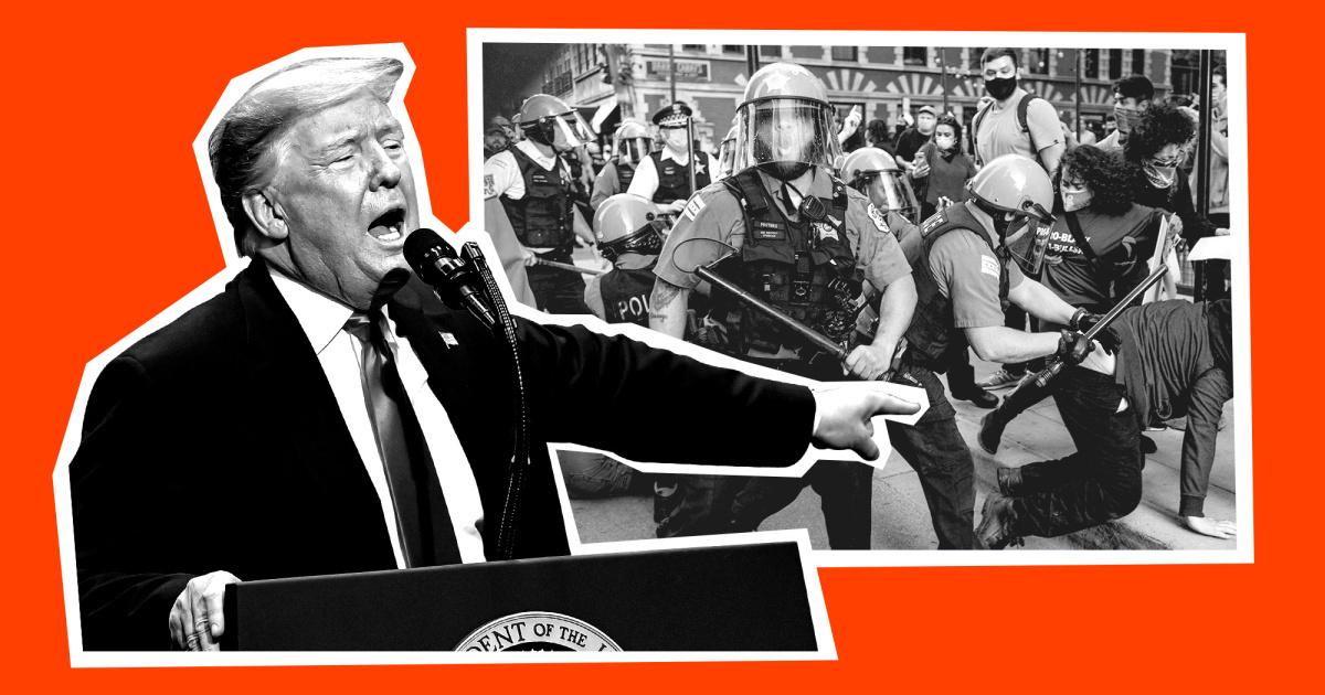كيف يحاول ترامب استغلال العنف.. لصالحه؟